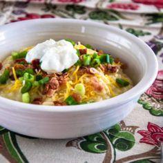 Crockpot Potato Soup~ - Oh So Shabby by Debbie
