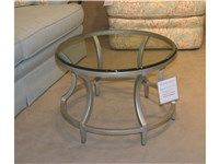 Hickory White Furniture Outlet Living Room Gilded Metal Cocktail Table by CTH