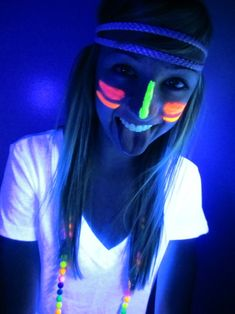 everyone gets glow paint on their face