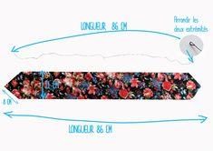 Cahier de vacances – Bandeau modulable par Adaoz Holiday Book – Modular Headband by Adaoz Headband Pattern, Diy Headband, Bandana Headbands, Bandana Styles, Bandana Ideas, Sewing Online, Coin Couture, Vintage Fashion 1950s, Christian Dior Vintage