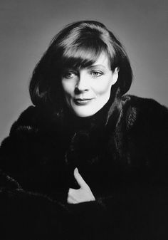 "Maggie Smith ""Blackglama"" ad. Had to change her stage name to ""Maggie Smith"" as there already was an actress named ""Margaret Smith"" at the time she started in the profession."