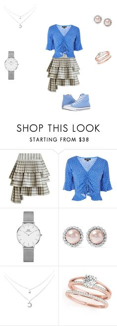 """""""Untitled #107"""" by harry-potter-fan-4-life ❤ liked on Polyvore featuring Zimmermann, Topshop, Daniel Wellington, Miu Miu and Converse"""