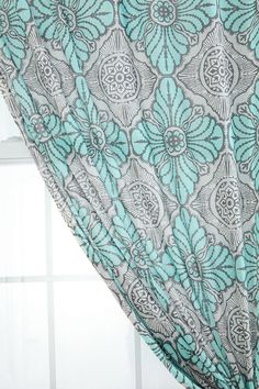 pretty curtains...my favorite colors for a study