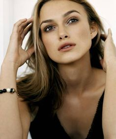 Keira Knightley's perfectly groomed brows, coloured and shaped to match her skin tone and face shape.