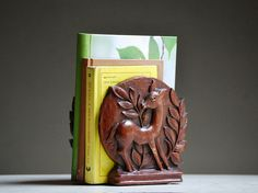 Vintage Wooden Bookends  Kid's Room Decor  Horse by TheZoeBird, $25.00