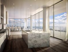 decor style a glass walled penthouse by bjarke ingels is for sale in miami photos architectural digest Dream Home Design, Home Interior Design, Interior Architecture, Luxury Home Designs, Design Homes, Luxury Homes Interior, Classical Architecture, Luxury Decor, Ancient Architecture