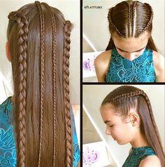 vlechten in 2020 Girl Hair Dos, Baby Girl Hair, Little Girl Hairstyles, Braided Hairstyles, Cool Hairstyles, Toddler Hair, Crazy Hair, Love Hair, New Hair