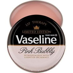 Love this stuff....VASELINE  Limited Edition Pink Bubbly Lip Therapy