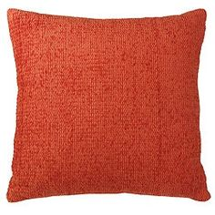 Time for a home project? Accessorise with Tesco. This chenille cushion in terracotta is £4.80.
