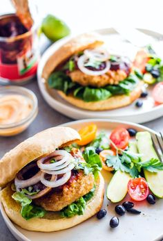 Grilled Adobo Chicken Burgers. A fusion of delicious Filipino and Mexican style chicken adobo flavors all mixed together and grilled up to make one TASTY chicken burger! These Chicken burgers are simple to make. Part of Healthy Dairy Free, Gluten Free Meal Plan Recipes