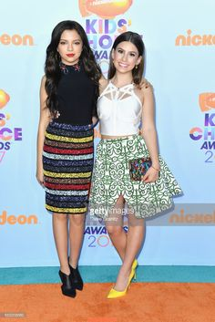 Actors Actress Cree Cicchino (L) and Madisyn Shipman at Nickelodeon's 2017 Kids' Choice Awards at USC Galen Center on March 11, 2017 in Los Angeles, California.