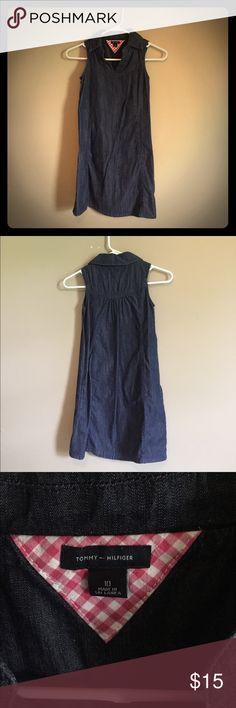 Tommy Hilfiger Denim Collared Dress Size 10 kids Tommy Collared Denim Dress Tommy Hilfiger Dresses