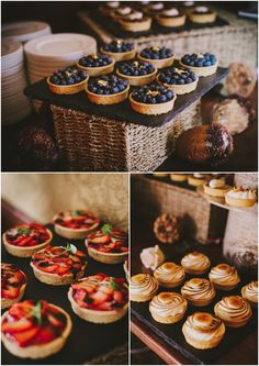 Mini individual pies by June Cochran Photography via One Hitched Lane