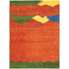 @Overstock - The Gabeh rug takes abstract designs that relies on open fields of fun color and whimsical patterns. Colors are carefully chosen to give an abrashed natural looking look and feel. Hand-knotted of 100-percent virgin wool pilehttp://www.overstock.com/Home-Garden/Hand-knotted-Gabeh-Valleys-Rust-Wool-Rug-76-x-96/6624880/product.html?CID=214117 $465.29