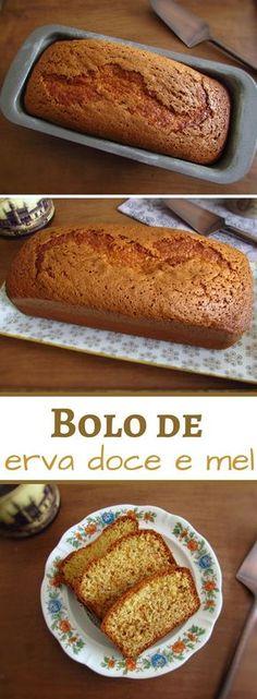Bolo de erva doce e mel | Food From Portugal. Este bolo de erva doce e mel é ideal para servir com chá numa noite fria de Inverno! É simples, bastante agradável e tem uma mistura de sabores que vale a pena experimentar! #receita #bolo #mel