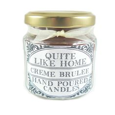 Creme Brule scented 4 oz. jar candle by QuiteLikeHome on Etsy