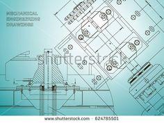 Blueprints. Mechanical construction. Technical Design. Engineering Cover. Banner. Light blue  #bubushonok #art #bubushonokart #design #vector #shutterstock  #technical #engineering #drawing #blueprint   #technology #mechanism #draw #industry #construction #cad