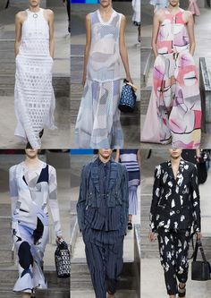 Cut-out Mesh and Broderie Anglaise – Futuristic Abstracts – Subtle Graphic Shadings – Torn Shapes – Pin Stripes kenzo  Kenzo photos via Vogue.co.uk