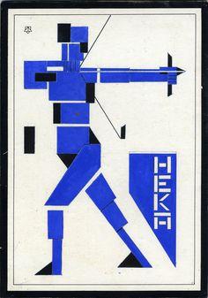 Theo Van Doesburg Sagittarius 1921 gouache, Collection Museum Dr8888