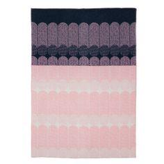 Ekko Throw Blanket, navy/rose