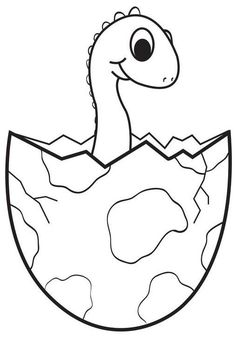 Dinosaurs Preschool, Dinosaur Activities, Dinosaur Crafts, Baby Dinosaurs, Infant Activities, Educational Activities, Preschool Activities, Egg Coloring Page, Dinosaur Coloring Pages