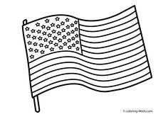 USA Flag Coloring Pages Independence Day For Kids Printable Free
