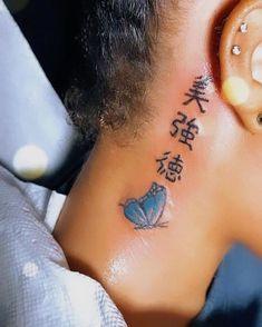 Cute Hand Tattoos, Dainty Tattoos, Pretty Tattoos, Finger Tattoos, Unique Tattoos, Girl Neck Tattoos, Neck Tattoos Women, Red Ink Tattoos, Mini Tattoos