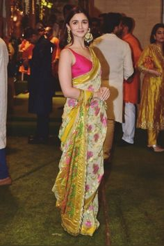 Best Bollywood Inspired Party Wear Sarees - All About The Woman Indian Bridal Fashion, Indian Fashion Dresses, Indian Wedding Outfits, Indian Designer Outfits, Indian Outfits, Ethnic Outfits, Indian Clothes, Bollywood Designer Sarees, Bollywood Lehenga