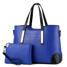 Famous Brand Women Bag Top-Handle Bags 2017 Fashion Women Messenger Bag Handbag Set PU Leather Composite Bag Purse HandbagPP-261