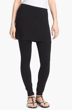 I've been hearing a lot about these ... Eileen Fisher Skirted Ankle Leggings (Regular & Petite) available at #Nordstrom