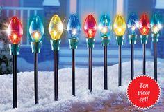 Holiday Bulb Pathway Light Set