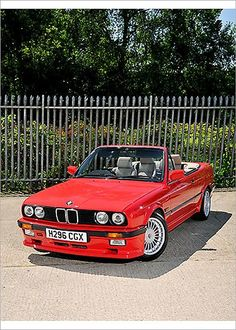 An poster sized print, approx (other products available) - BMW Alpina Cabriolet 1990 Red - Image supplied by Car Photo Library - Poster printed in the USA Bmw E30, Bmw Alpina, Photo Mug, Car Mods, Bmw Cars, Car Photos, Photo Library, Gifts In A Mug, Convertible