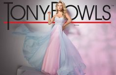 Tony Bowls TB11619 - Pink/Blue - Size 10 -Available at Stella's Bridal & Evening Collections