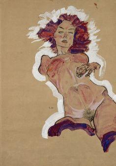 Egon Schiele | Weiblicher Akt | 1910 | © Albertina, Wien #art #EgonSchiele #ModernArt #Schiele