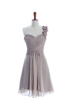 This website has some cute options! Gorgeous Knee-length A-line bridesmaid dress (20% off discount)