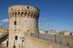 Donjon of he Acquaviva Picena's fortress, medieval town, marche region, Ascoli Piceno's country