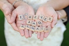 Scrabble letters would be a good accent Wedding photos