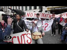 Disabled People Against Cuts direct action Tottenhem Court Road 19May2016