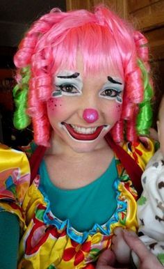sweet clown lady face | Pin Kit Kat The Clown Face Painting picture to pinterest.
