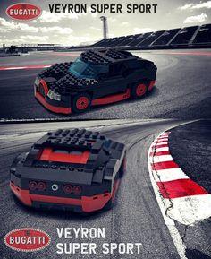 Lego Bugatti Veyron Super Sport Side #LEGO #Bugatti #Veyron
