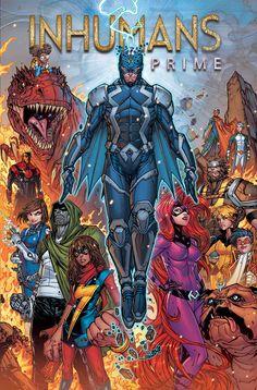 INHUMANS PRIME #1RESURRXION COMIENZA AQUÍ!   A raíz de los impresionantes eventos de IVX - ¿qué será de los Inhumanos? En este número especial sobredimensionado - el juicio de Maximus! La llegada de Marvel Boy! ¿Y cuál es el oscuro secreto de Black Bolt? Una cuestión especial de puente entre el pasado de los Inhumanos y su futuro - en la Tierra y en las estrellas!