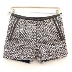 Glittering Metallic Sequined Stretch Shorts Hot Bling Dancer Mini Short-Pants