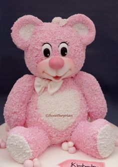 Birthday Cakes - Teddy bear made from rice crispies