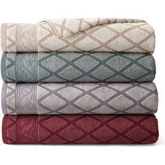Royal Velvet Diamond Jacquard Bath Towel Collection (645 RUB) ❤ liked on Polyvore featuring home, bed & bath, bath, bath towels, cotton bath towels, royal velvet, cotton hand towels, royal velvet bath towels and plush bath towels