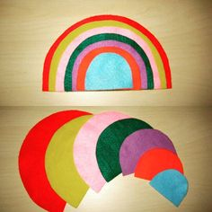 Such a cute idea from @CraftyFeltStory! We love this felt rainbow. Iconosquare