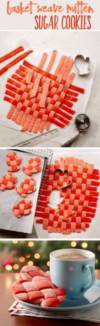 Best Recipes for Christmas Cookies- Basket Weave Mitten Sugar Cookies - Easy Decorated Holiday Cookies - Candy Cookie Recipes Ideas for Kids - Traditional Favorites and Gluten Free and Healthy Versions - Quick No Bake Cookies and Last Minute Desserts for