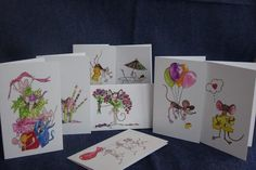 Pack of 8 Assorted Blank Greeting Cards with Envelopes. Stationary, Envelope, Greeting Cards, Envelopes, Place Settings