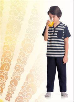 Pijama Lupo infantil listrado - 20001-001
