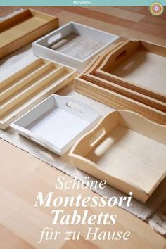 Montessori Tabletts für zu Hause Where can I get Montessori trays for home? Again and again I am asked where to buy Montessori trays for materials for free work and for pouring and pouring exercises a Preschool Games, Toddler Preschool, Toddler Activities, Montessori Materials, Adhd Kids, Practical Life, Gentle Parenting, How To Make Light, Ideas
