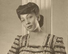 Vintage photo of a african american woman